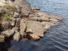 rock at waters edge