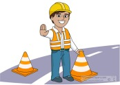 Road construction safety clipart